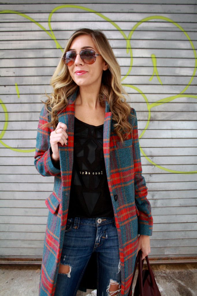 Plaid, Winter, Layers, Menswear, WIW, OOTD, Ripped Boyfriend Jeans, Gigi NY, Polar Vortex, 2 Starbucks, Glamourous,
