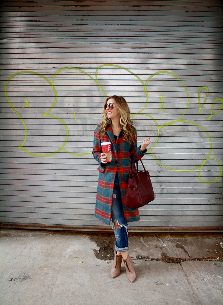 Plaid, Winter, Layers, Menswear, WIW, OOTD, Ripped Boyfriend Jeans, Gigi NY, Polar Vortex