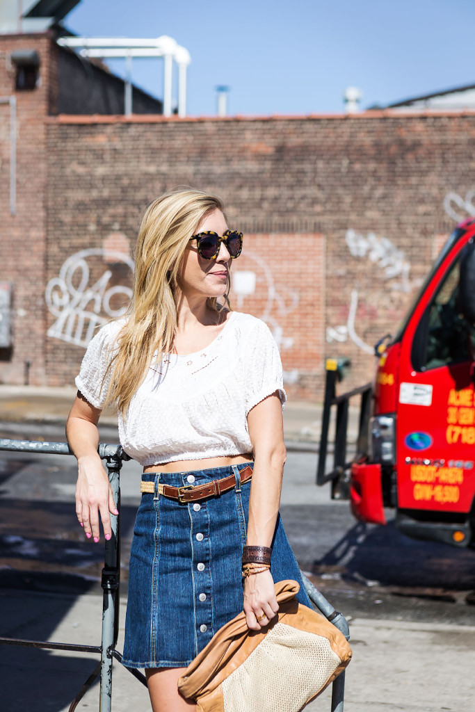 Street Style, Williamsburg, Brooklyn, What I Wore, OOTD, NYC, New York, Denim, Alexa Chung x AG Jeans, 70s