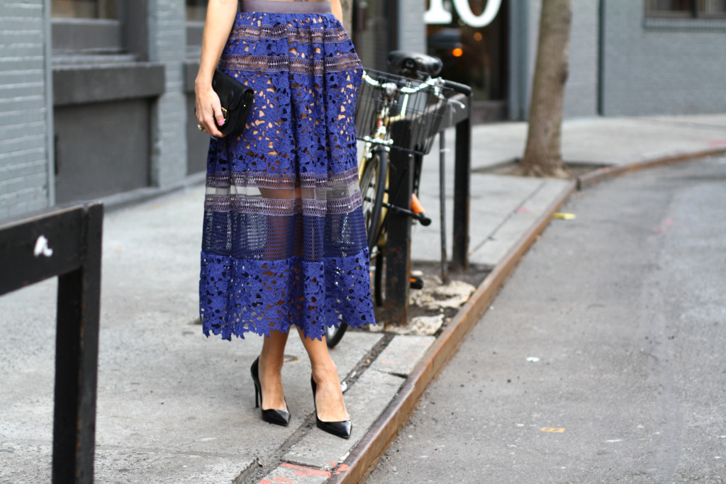Self Portrait, NYC, Street Style, What to Wear, Spring Style, Lace, Details, Dior, West Village