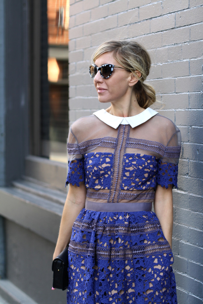 Self Portrait, NYC, Street Style, What to Wear, Spring Style, Lace, Details, Dior, West Village, 33