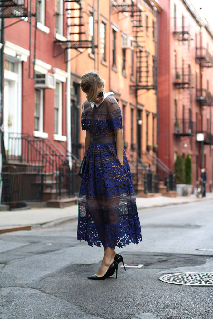 Self Portrait, NYC, Street Style, What to Wear, Spring Style, Lace, Details, Dior, West Village 556