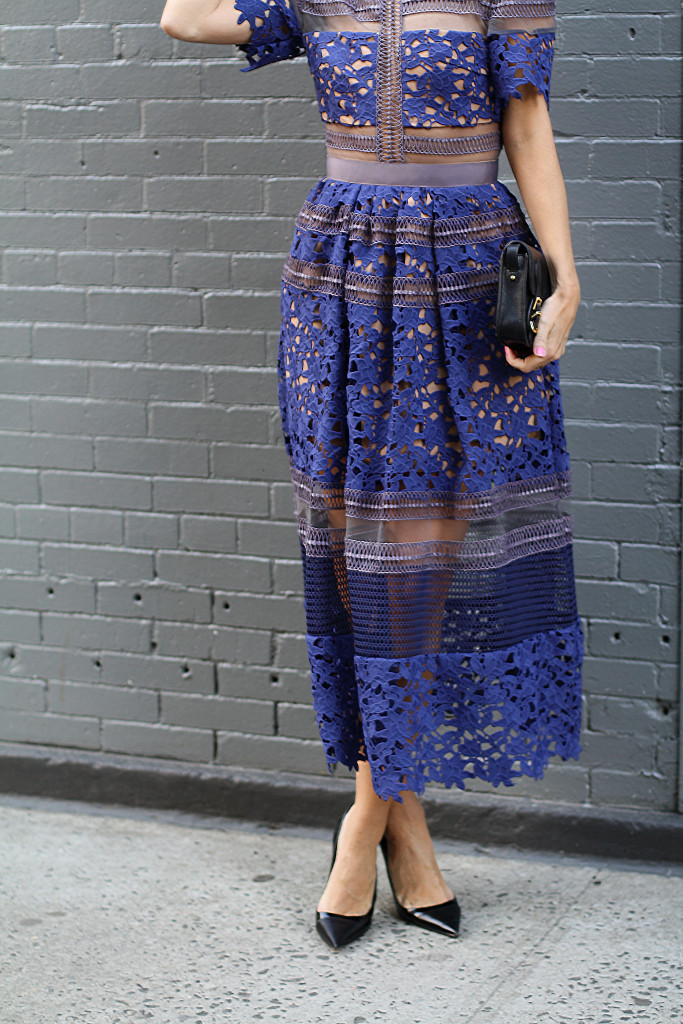 Self Portrait, NYC, Street Style, What to Wear, Spring Style, Lace, Details, Dior, West Village DETAILS USE