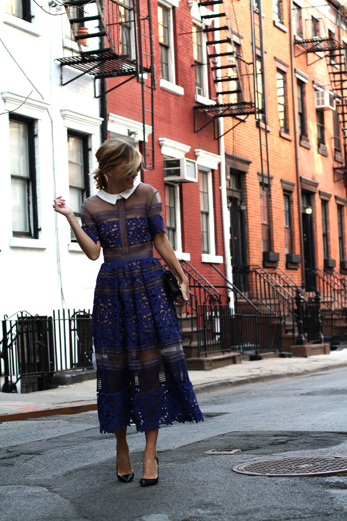 Self Portrait, NYC, Street Style, What to Wear, Spring Style, Lace, Details, Dior, West Village WALKING