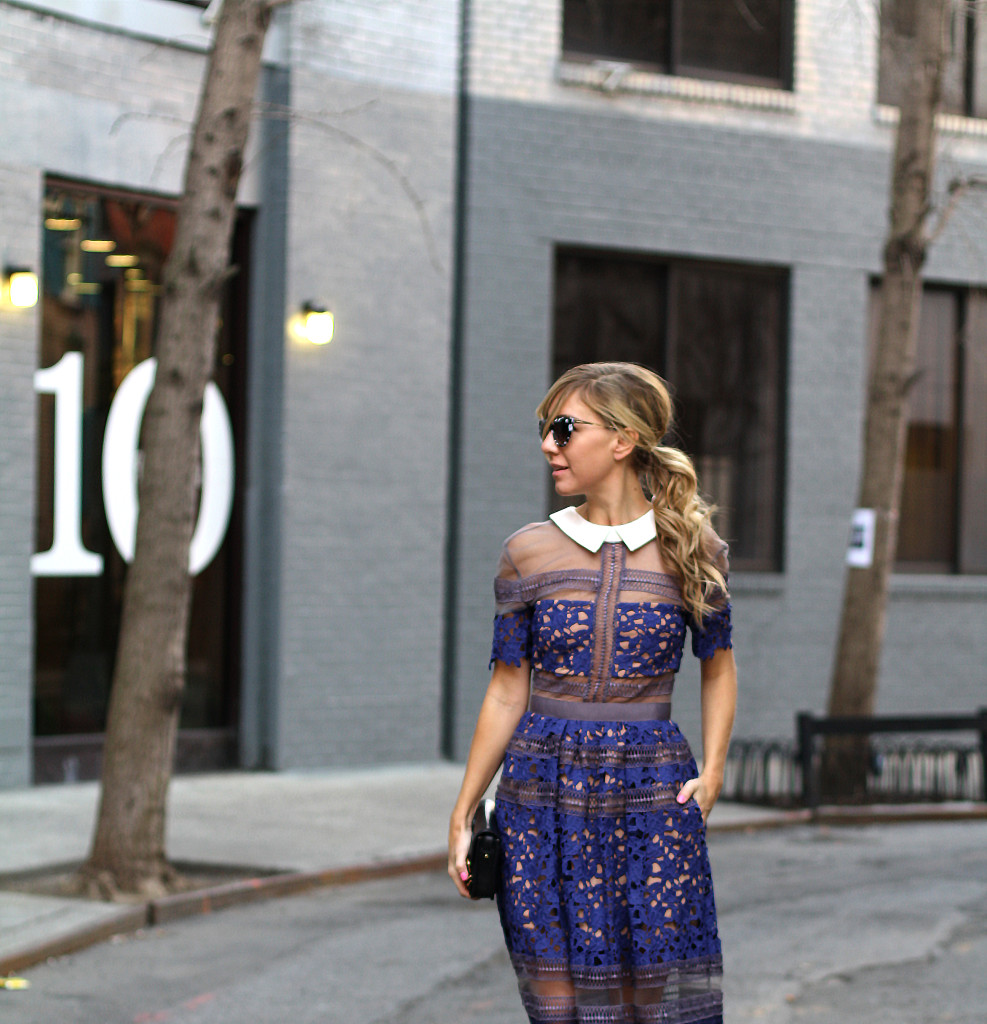 Self Portrait, NYC, Street Style, What to Wear, Spring Style, Lace, Details, Dior, West Village cropped