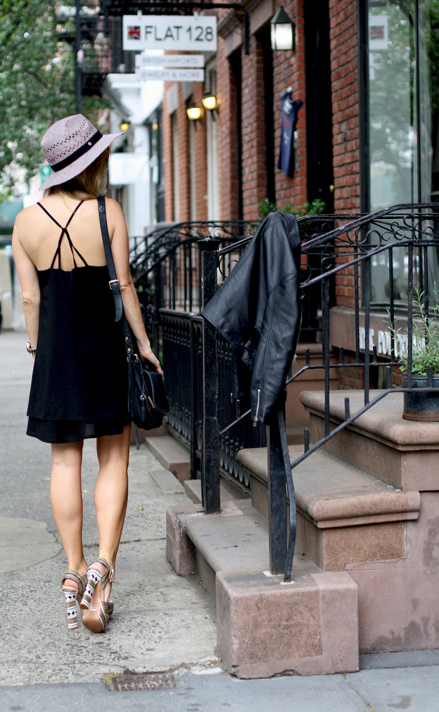 OOTD, What I wore, Fashion Blogger, NYC Style, Street Style, West Village, Boho, Schultz shoes, retro vibes, LBD