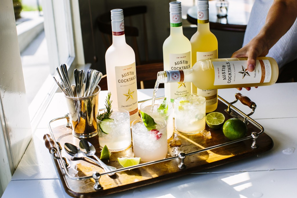 Austin Cocktails on Tray