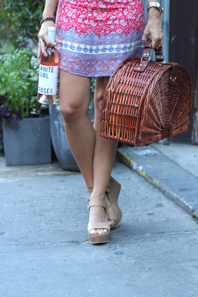Lulus, Summer Style, OOTD, NYC, West Village, Jeffrey Grocery, White Girl Rose, Picnic Basket