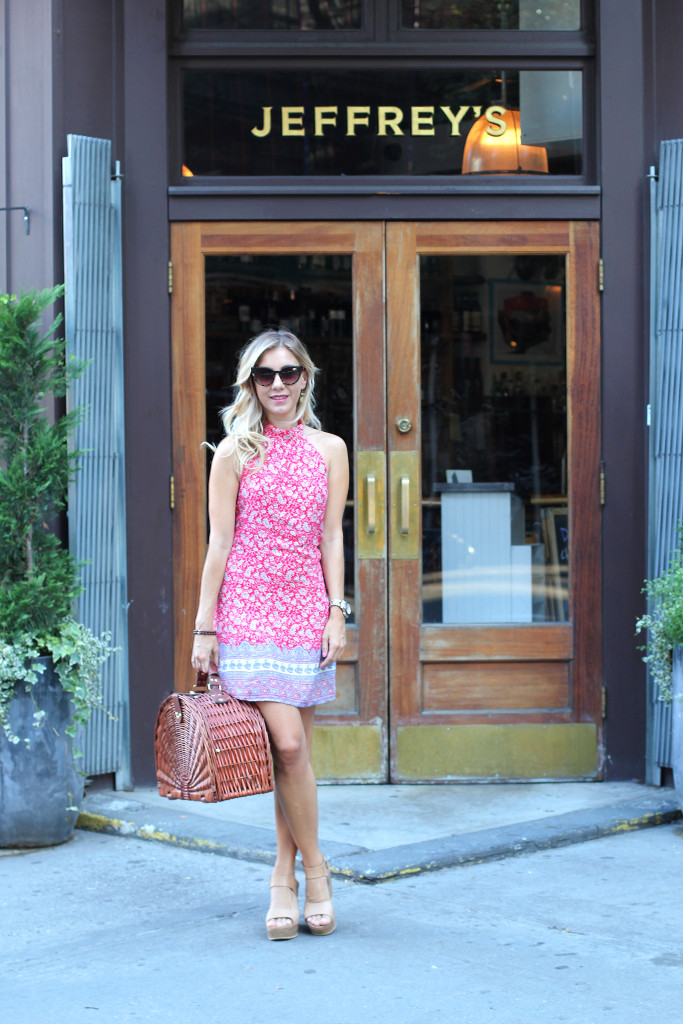 Lulus, Summer Style, OOTD, NYC, West Village, Jeffrey Grocery, White Girl Rose, Picnic Basket, New York