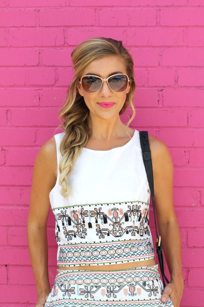Matching sets, Fashion blogger, girls with gluten, donuts, dallas blogger, ootd, summer, Mermaid Braid, Details