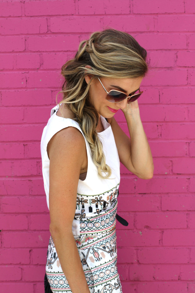 Matching sets, Fashion blogger, girls with gluten, donuts, dallas blogger, ootd, summer, Mermaid Braid, Details, Braids, Long Hair, Braid by Stephanie Nelson Makeup and Hair