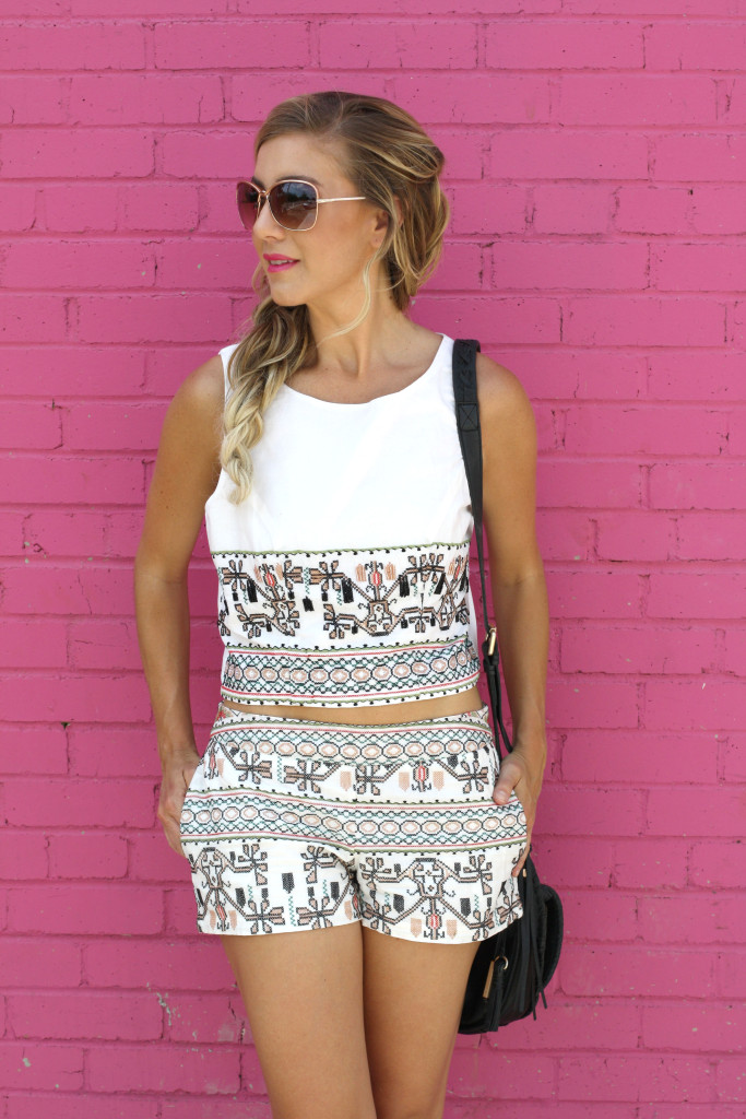 Matching sets, Fashion blogger, girls with gluten, donuts, dallas blogger, ootd, summer, Mermaid Braid, LOTD