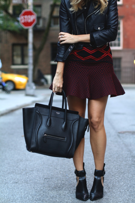 street style, NYC blogger, what i wore, WIW, OOTD, Chanel, Nasty Gal, Ronny Kobo, West village, NYC, details, Celine, Tibi