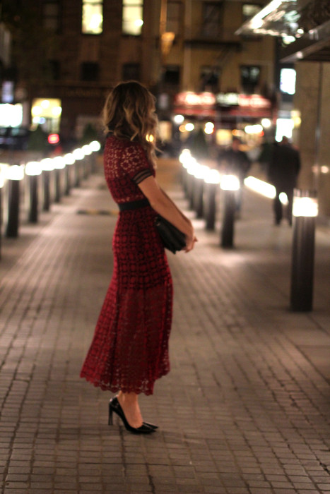 Self Portrait dress, NYC, Blogger, Fashion Blogger, Holiday Outfit, 2