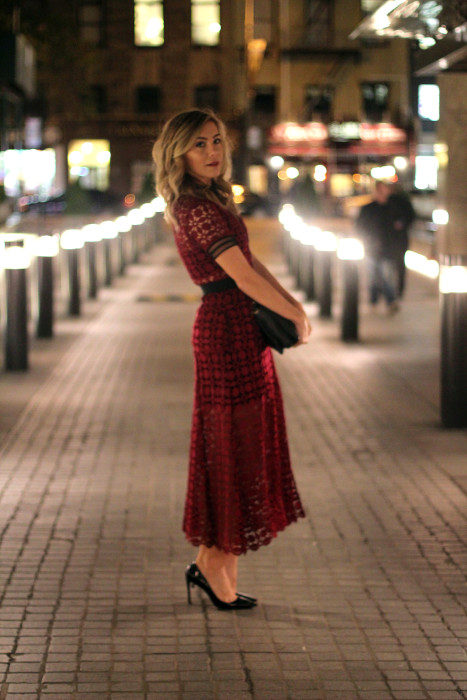 Self Portrait dress, NYC, Blogger, Fashion Blogger, Holiday Outfit