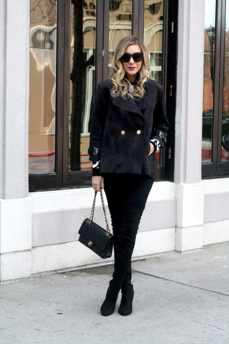 OOTD, What to wear, Casual, Chanel, OTK Boots, Dallas Blogger, Style Lend
