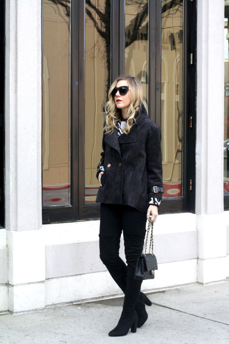 OOTD, What to wear, Casual, Chanel, OTK Boots, Dallas Blogger, street style