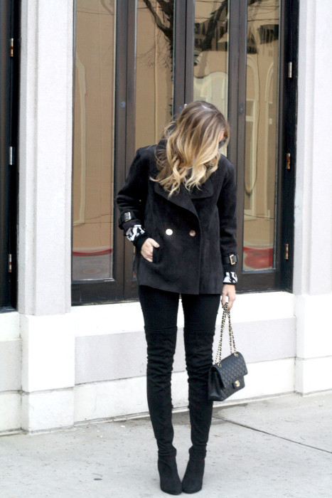 OOTD, What to wear, Casual, Chanel, OTK Boots, Dallas Blogger, street style, Chanel