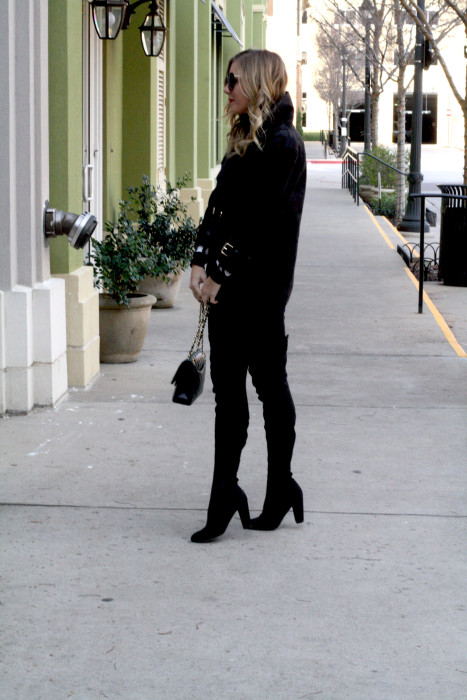 OOTD, What to wear, Casual, Chanel, OTK Boots, Dallas Blogger, street style, Deets