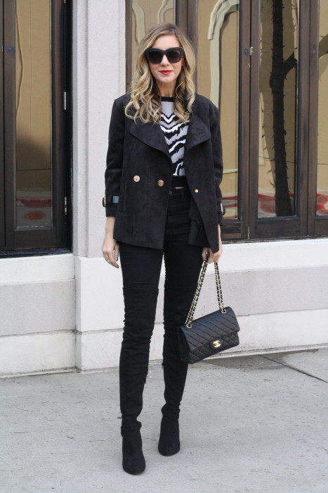 OOTD, What to wear, Casual, Chanel, OTK Boots, Dallas Blogger, street style, Style Lend