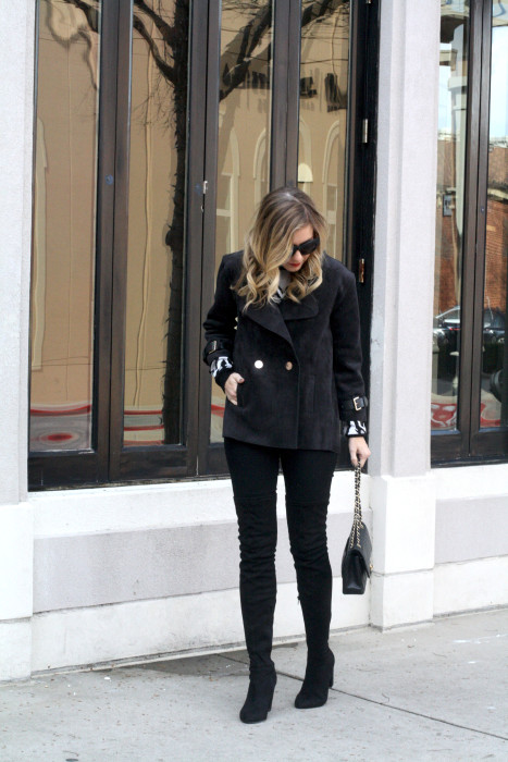 OOTD, What to wear, Casual, Chanel, OTK Boots, Dallas Blogger, street style, fave
