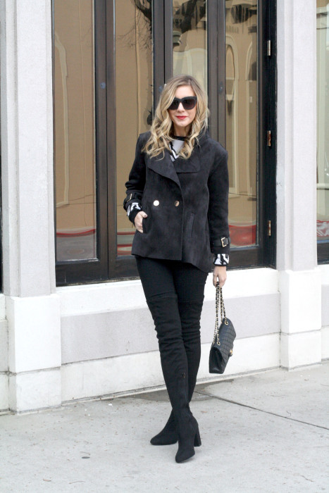OOTD, What to wear, Casual, Chanel, OTK Boots, Dallas Blogger, street style, love