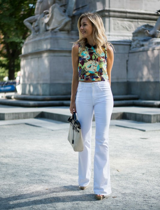 Impossibly Imperfect, White Jeans, How to wear, NYC, Street Style, Zara, Hermes, schultz