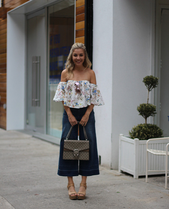 OTS, How to wear, SoHo, proportion, OOTD, Zara, Culottes, Denim, Gucci, Impossibly Imperfect, 1