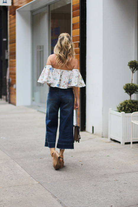 OTS, How to wear, SoHo, proportion, OOTD, Zara, Culottes, Denim, Gucci, Impossibly Imperfect, Loose waves, Hair, Beauty