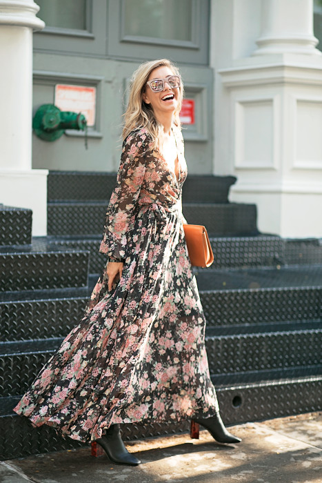 Floral, Maxi, Fall Style, NYC blogger, Gigi New York, Fashion Blogger, Street Style