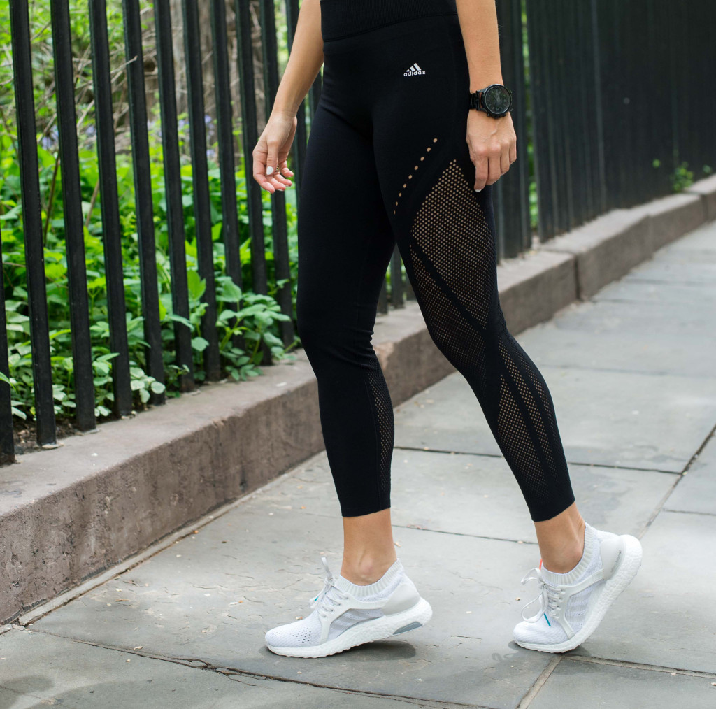adidas UltraBOOST sneakers, Adidas, running, fitness blogger, fit influencer, warp tights